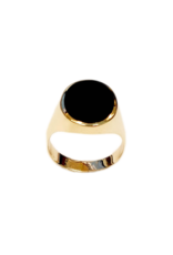 Occasions by Marleen Occasions by Marleen - 14 karaats - Gouden  zegelring - Onyx - Maat 20+