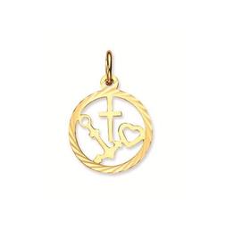 van Leeuwen Gouden bedel - 14 karaats - Hanger - hoop, geloof , liefde - In rand