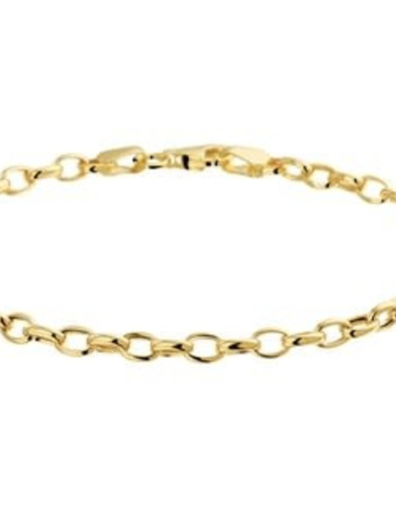 Gouden armband - 14 karaats - Jasseron - 3.5 mm - 18.5 cm