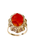 Occasions by Marleen Occasions by Marleen - 14 karaats - Gouden ring - Carneool - Maat 18.5