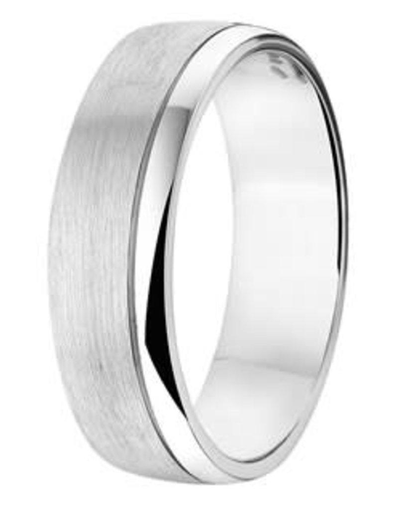 Amorio Relatiering - Zilver - A206 - Zonder steen - 6.0 mm