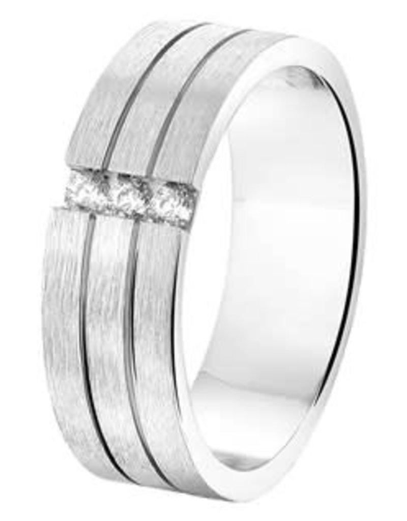Amorio Relatiering - Zilver - A207 - Zirkonia - 6.0 mm