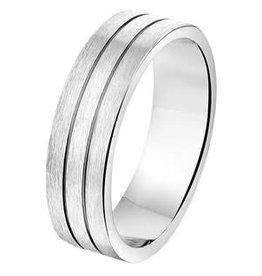 Amorio Relatiering - Zilver - A207 - Zonder steen - 6.0 mm