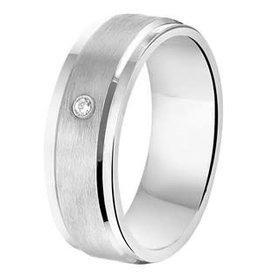 Amorio Relatiering - Zilver - A208 - Zirkonia - 6.5 mm