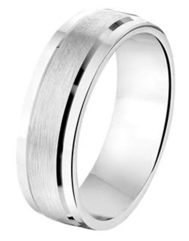 Amorio Relatiering - Zilver - A208 - Zonder steen - 6.5 mm