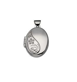 van Leeuwen Zilveren medaillon - Gerhodineerd - Ovaal