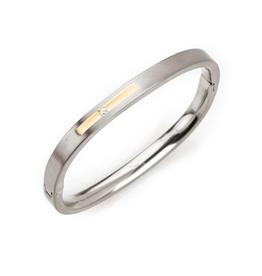 Boccia Boccia - Armband - Titanium bicolor - Diamant