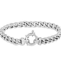 Zilveren armband - Gerhodineerd - Gourmet - 7,5 mm - 19 cm