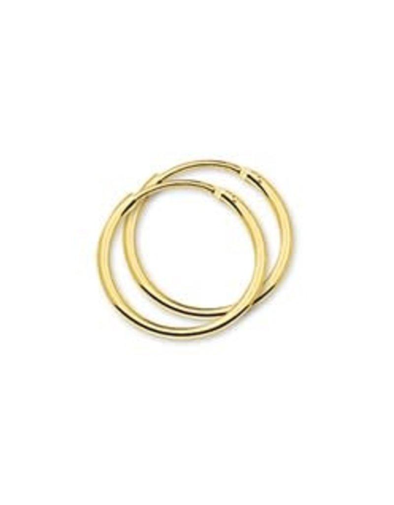 Gouden draadcreolen - 14 karaats - 17 mm