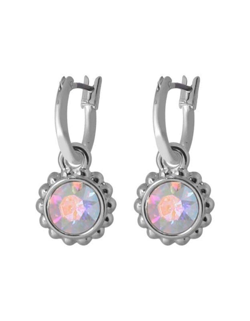 Biba Biba - Oorbellen - Crystal roze