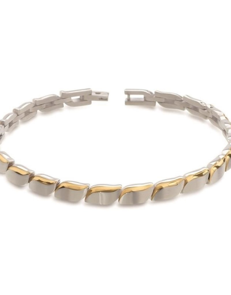 Boccia Boccia - Armband - Titanium Bicolor - 21 cm