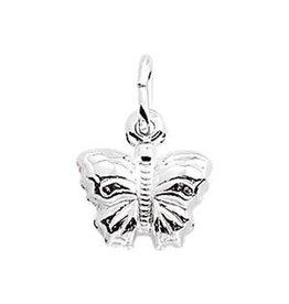 Zilveren bedel - Vlinder