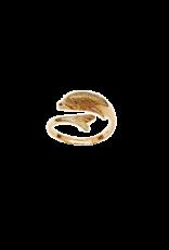 Occasions by Marleen Occasions by Marleen - 14 karaats - Gouden ring - Dolfijn