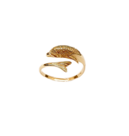 Occasions by Marleen Occasions by Marleen - 14 karaats - Gouden ring - Dolfijn