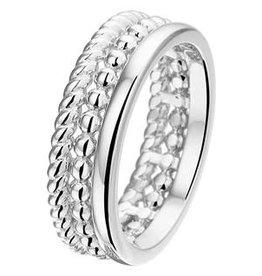 Zilveren ring - Gerhodineerd- Maat 17.25