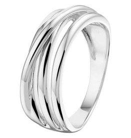 Zilveren ring - Gerhodineerd - Maat 18.5