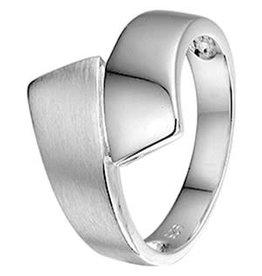 Zilveren ring - Gerhodineerd - Mat/glanzend - Maat 17.25