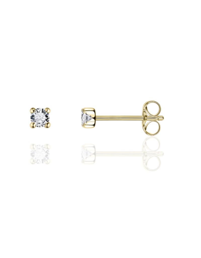 Gisser Gouden oorknoppen - 14 karaats - Zirkonia - 2.5 mm