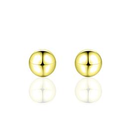 Gisser Zilver vergulde oorknoppen - Bol - 6 mm