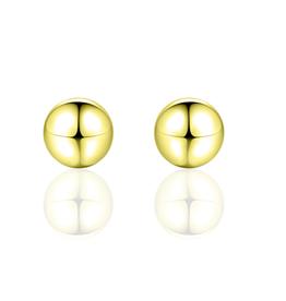 Gisser Zilver vergulde oorknoppen - Bol - 7 mm