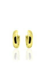 Gisser SILVER HOOPS - 18 karaats geelgoud op zilver - 13.5 mm