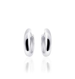 Gisser SILVER HOOPS - Zilver gerhodineerd - 18 mm