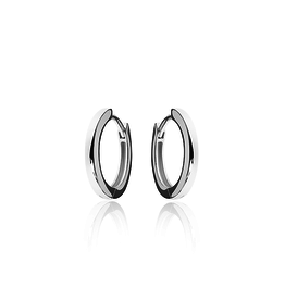 Gisser SILVER HOOPS - Zilver gerhodineerd - Small - 18 mm
