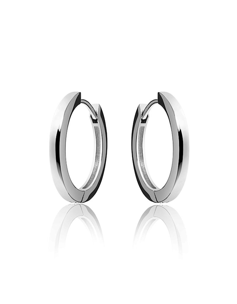 Gisser SILVER HOOPS - Zilver gerhodineerd - Small - 22 mm