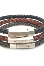 Thomss Thomss - Leren armband - Zwart - TZ05