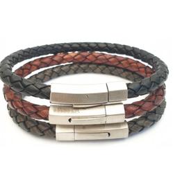 Thomss Thomss - Leren armband - Cognac - TZ04