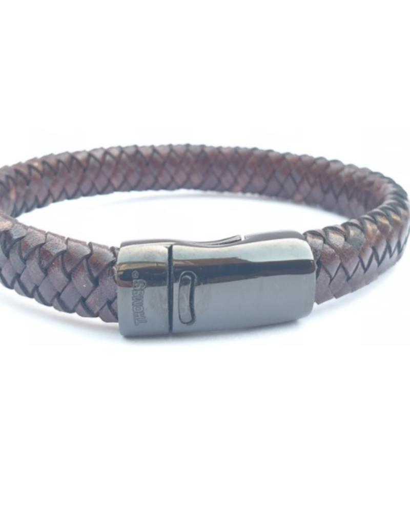 Thomss Thomss - Leren armband - Bruin - TZ21