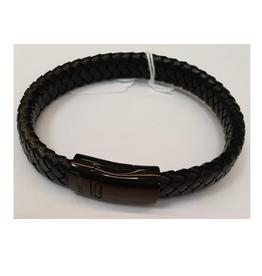 Thomss Thomss - Leren armband - Zwart - TZ22