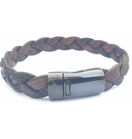 Thomss Thomss - Leren armband - Bruin - TZ10