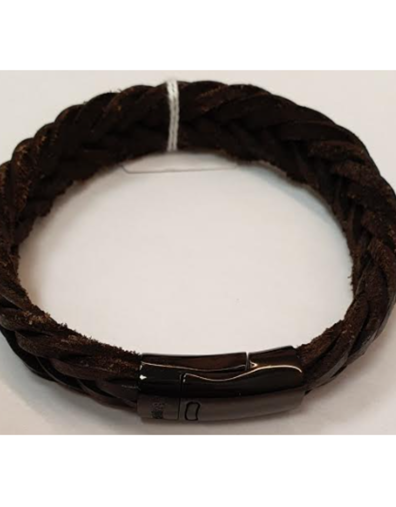 Thomss Thomss - Leren armband - Bruin - TZ24