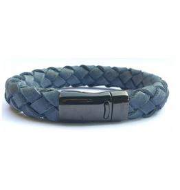 Thomss Thomss - Leren armband - Blauw - TZ29
