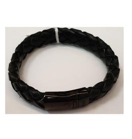 Thomss Thomss - Leren armband - Zwart - TZ24