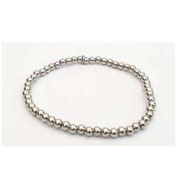 Priddy Priddy - Edelstalen bolletjes armband - 4 mm