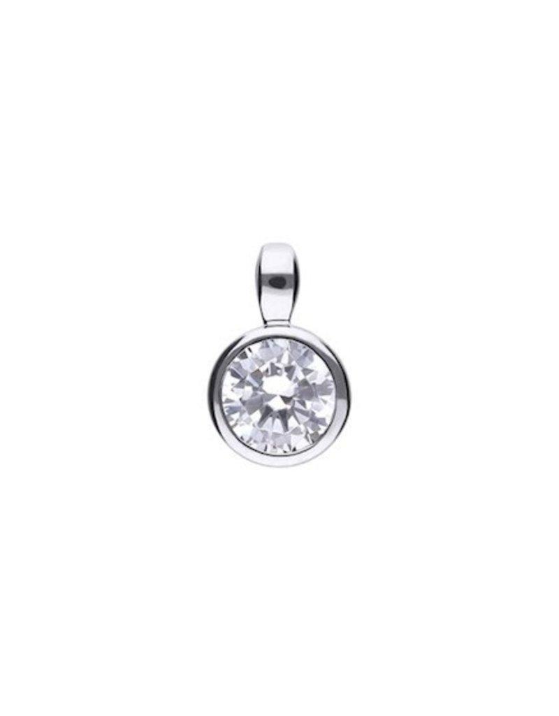 Diamonfire Diamonfire - Zilveren collier - Zirkonia - Solitair - 0.75 crt - 45 cm