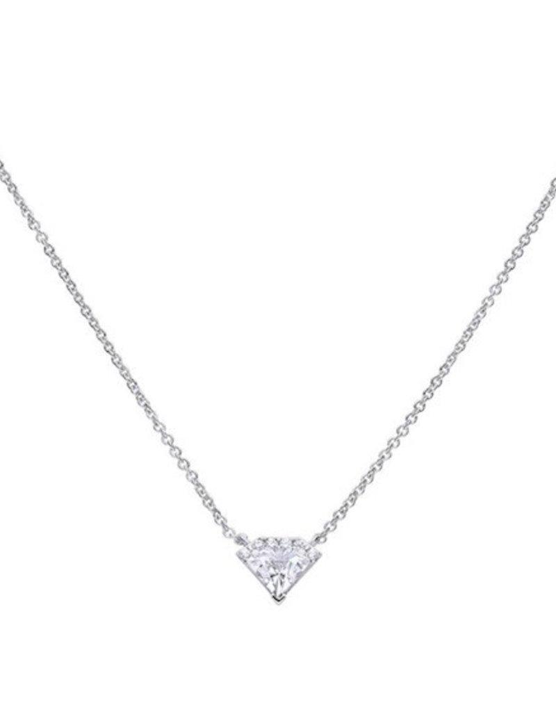 Diamonfire Diamonfire - Zilveren collier - Zirkonia - Diamant - 45 cm