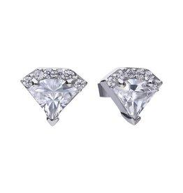 Diamonfire Diamonfire - Zilveren oorknoppen - Zirkonia - Diamant