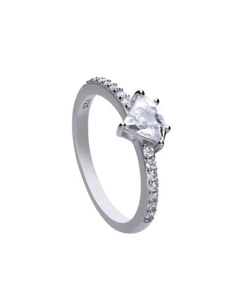 Diamonfire Diamonfire - Zilveren ring - Zirkonia - Diamant - Maat 17