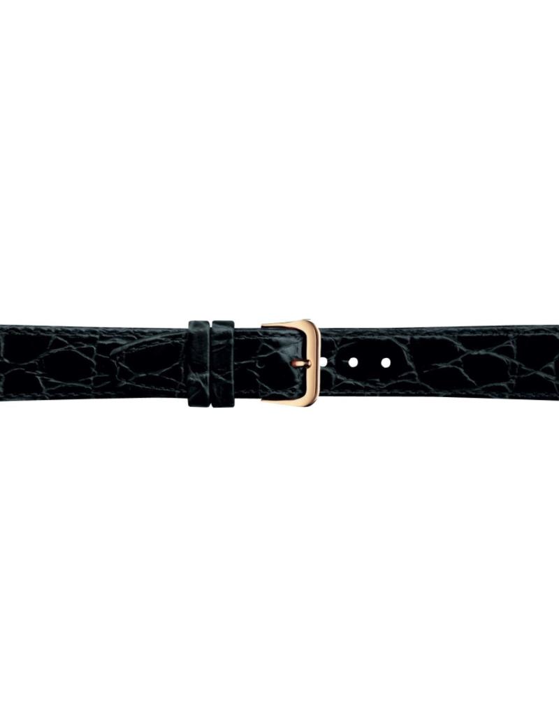 Condor horloge band - Leer - Zwart - 082R.01.xx