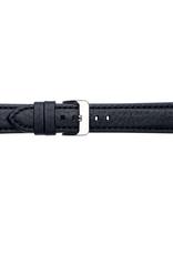 Condor horloge band - Leer - Zwart - 665R.01.xx