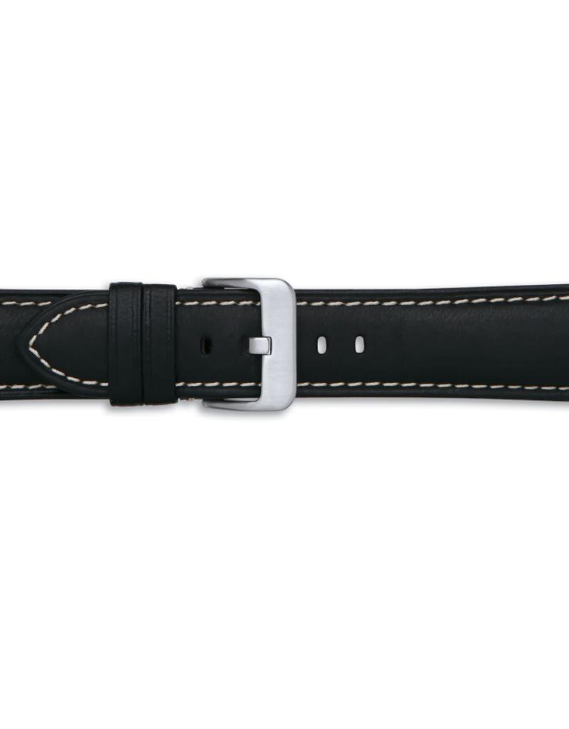 Condor horloge band - Leer - Zwart - 346R.01.xx