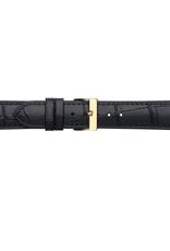 Condor horloge band - Leer - Zwart - 613R.01.xx