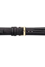 Condor horloge band - Leer - Zwart - 611R.01.xx