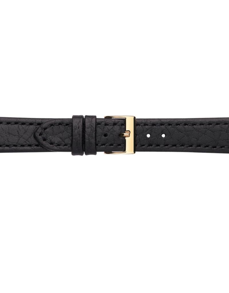 Condor horloge band - Leer - Zwart - 609R.01.xx
