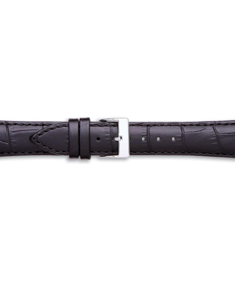Condor horloge band - Leer - Zwart - 320R.01.xx