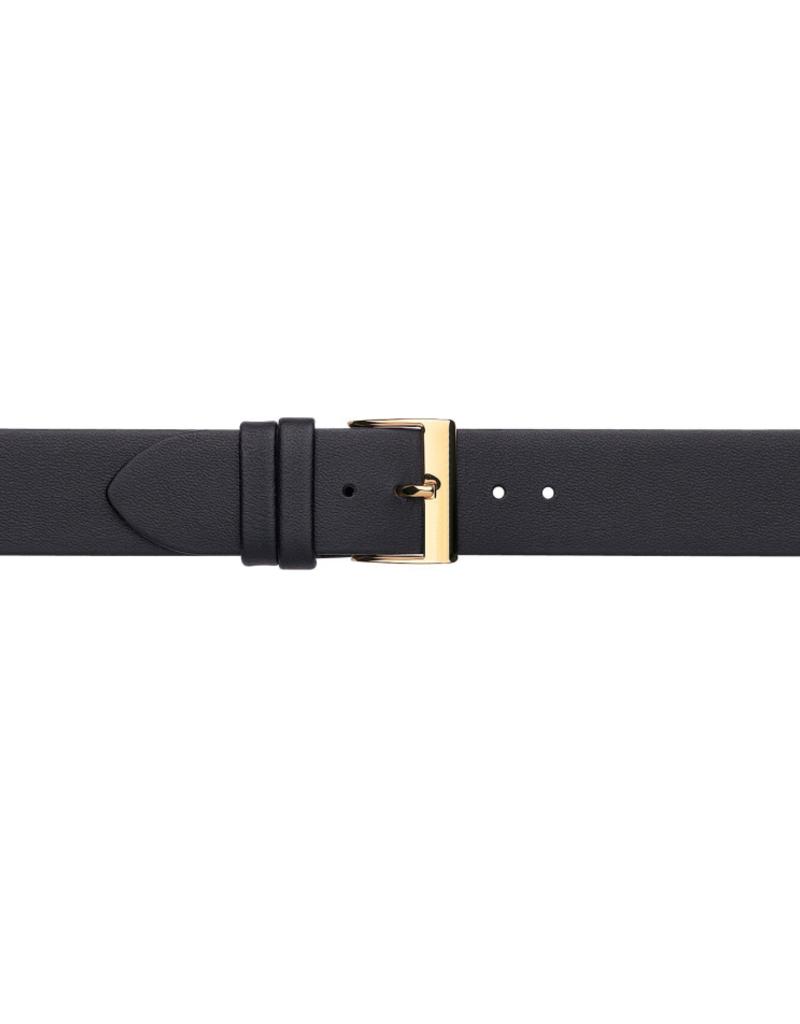 Condor horloge band - Leer - zwart - 605R.01.xx
