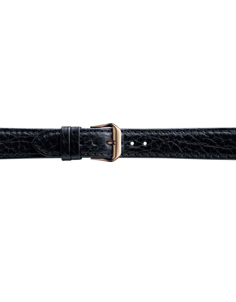 Condor horloge band - Leer - Zwart - 051R.01.xx